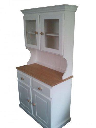 Wye Pine Painted Glazed Welsh Dresser – Complete Wye Pine Painted Glazed Welsh Dresser Distressed 0