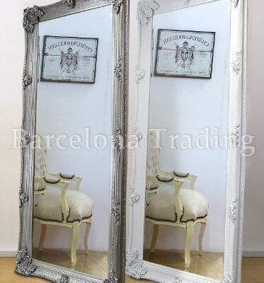 "abbey large full length shabby chic vintage leaner mirror silver 32"" x 68"" Abbey Large Full Length Shabby Chic Vintage Leaner Mirror Silver 32″ X 68″ Abbey Large Full Length Shabby Chic Vintage Leaner Mirror In White Or Silver 32 X 68 0 373x400"