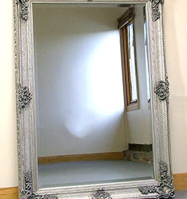 abbey large silver shabby chic antique style wall/over mantle mirror - 31in x 43in Abbey Large Silver Shabby Chic Antique Style Wall/Over Mantle Mirror – 31in x 43in Abbey Large Silver Shabby Chic Antique Style WallOver Mantle Mirror 31in x 43in 0 376x400