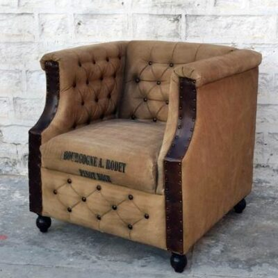 armchair sillon industrial style vintage canvas and leather Home Decorating Shop Armchair Sillon Industrial Style Vintage Canvas and Leather Armchair Sillon Industrial Style Vintage Canvas and Leather 0 400x400
