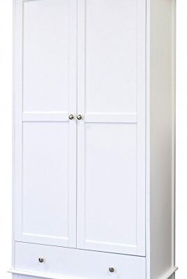 contemporary look shabby chic wooden 1 drawer 2 door wardrobe in white Contemporary Look Shabby Chic Wooden 1 Drawer 2 Door Wardrobe in White Contemporary Look Shabby Chic Wooden 1 Drawer 2 Door Wardrobe in White 0 268x400