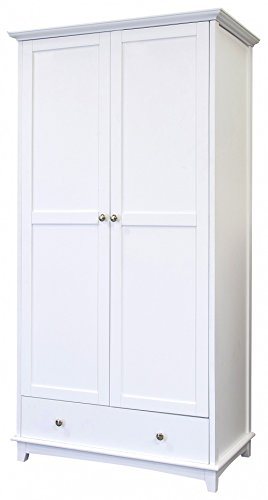 contemporary look shabby chic wooden 1 drawer 2 door wardrobe in white Contemporary Look Shabby Chic Wooden 1 Drawer 2 Door Wardrobe in White Contemporary Look Shabby Chic Wooden 1 Drawer 2 Door Wardrobe in White 0
