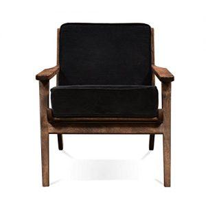 Dark Grey 'Vidia' Velvet Armchair with Removable 100% ...