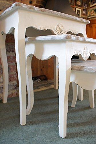 Devon Cream Painted Nest Of Tables Shabby Chic Stylish