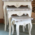 pretty casamore devon nest of 3 tables with a french inspired shabby chic look - free delivery Pretty Casamore Devon Nest of 3 Tables with a French Inspired Shabby Chic Look – FREE DELIVERY Devon Cream Painted Nest of Tables Shabby Chic Stylish French Design 0 150x150