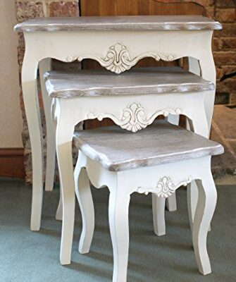 devon cream painted nest of tables shabby chic stylish french design Amari Leisure Devon Cream Painted Nest of Tables Shabby Chic Stylish French Design Devon Cream Painted Nest of Tables Shabby Chic Stylish French Design 0 335x400