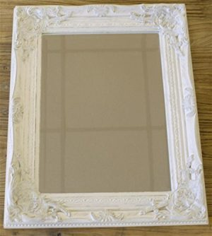 Distressed Antique French Ornate Style White Wall Mirror ~ Shabby Chic Distressed Antique French Ornate Style White Wall Mirror Shabby Chic 0 300x334