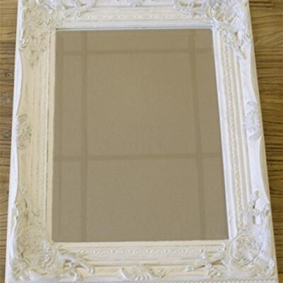 distressed antique french ornate style white wall mirror ~ shabby chic Distressed Antique French Ornate Style White Wall Mirror ~ Shabby Chic Distressed Antique French Ornate Style White Wall Mirror Shabby Chic 0 400x400