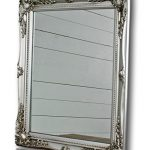 Elbmöbel silver shabby chic antique style mirror with fine ornaments large 37x47cm Elbmbel silver shabby chic antique style mirror with fine ornaments large 37x47cm 0 150x150