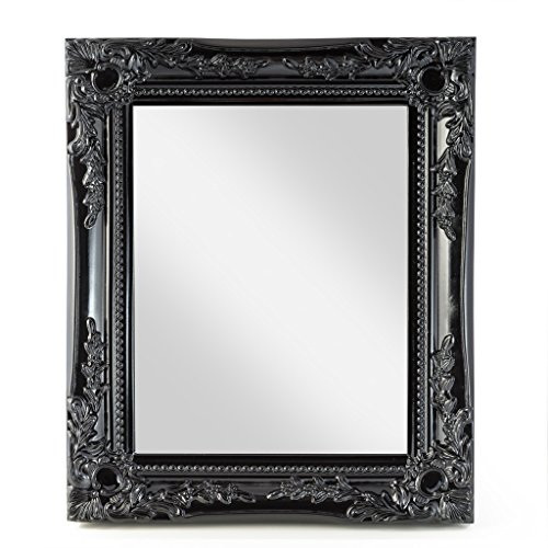 Elbmöbel wall mirror black shabby chic antique style ornate 33x27x3cm large Elbmbel wall mirror black shabby chic antique style ornate 33x27x3cm large 0