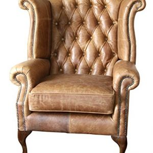 handmade chesterfield queen anne high back wing chair in vintage tan leather Handmade Chesterfield Queen Anne High Back Wing Chair in Vintage Tan Leather Handmade Chesterfield Queen Anne High Back Wing Chair in Vintage Tan Leather 0 300x300