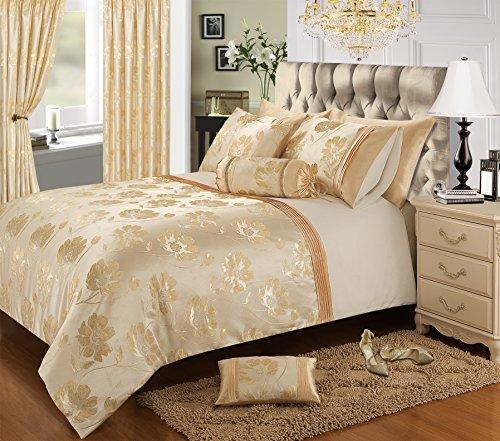 Bedding Premium Double Bed, Luxury Cream And Gold Bedding