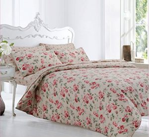 Velosso Home Bedding Store Soft Flannelette 100% Brushed Thermal Cotton Single Bed Duvet/Quilt Cover Bedding Set Floral Peony Home Bedding Store Soft Flannelette 100 Brushed Thermal Cotton Single Bed Duvet Quilt Cover Bedding Set Floral Peony 0 300x277