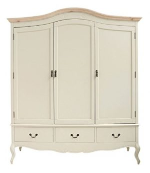 juliette shabby chic champagne triple wardrobe Juliette Shabby Chic Champagne Triple Wardrobe Juliette Shabby Chic Champagne Triple Wardrobe Stunning large 3 door cream wardrobe with hanging railshelves and drawers 0 300x344