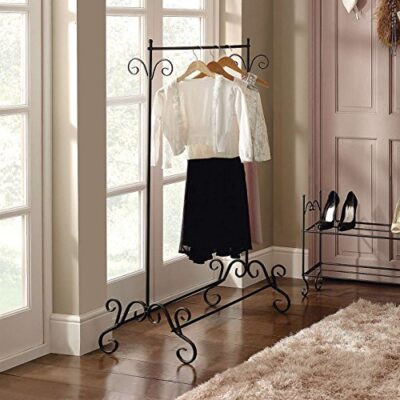 dylex shabby chic clothes garment rail metal ornate vintage style hanging stand dylex Shabby Chic Clothes Garment Rail Metal Ornate Vintage Style Hanging Stand Shabby Chic Clothes Garment Rail Metal Ornate Vintage Style Hanging Stand 0 400x400