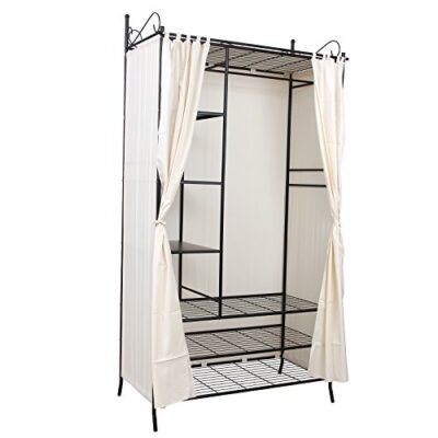 songmics wardrobe clothes cupboard hanging rail storage shelves with metal frame and cover 108 x 210 x 58 cm rtg04h SONGMICS Wardrobe Clothes Cupboard Hanging Rail Storage Shelves with Metal Frame and Cover 108 x 210 x 58 cm RTG04H Songmics Wardrobe Clothes Cupboard Hanging Rail Storage Shelves with Metal Frame and Cover 108 x 210 x 58 cm RTG04H 0 400x400