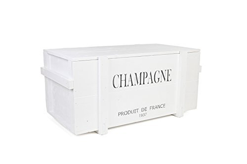 uncle joe´s vintage style shabby chic champagne chest, wood, white, large, 98 x 55 x 46 cm Uncle Joe´s Wooden Chest Champagne in white in vintage style shabby chic size L, Wood Uncle Joes Vintage Style Shabby Chic Champagne Chest Wood White Large 98 x 55 x 46 cm 0
