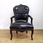 vintage retro shabby chic french louis xv style chair with black leatherette upholstery and black carved wood frame Vintage Retro Shabby Chic French Louis XV Style Chair with Black Leatherette Upholstery and Black Carved Wood Frame Vintage Retro Shabby Chic French Louis XV Style Chair with Black Leatherette Upholstery and Black Carved Wood Frame 0 150x150