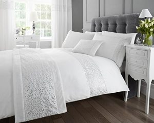white sequined double quilt duvet cover and 2 x pillowcase bedding bed set modern luxury glamour White Sequined Double Quilt Duvet Cover and 2 x Pillowcase Bedding Bed Set Modern Luxury Glamour White Sequined Double Quilt Duvet Cover and 2 x Pillowcase Bedding Bed Set Modern Luxury Glamour 0 300x240