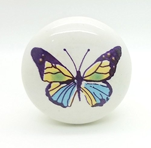 Colourful Butterfly Ceramic Door Knob Vintage Shabby Chic Cupboard Drawer Pull Handle 4533 Colourful Butterfly Ceramic Door Knob Vintage Shabby Chic Cupboard Drawer Pull Handle 4533 0 0