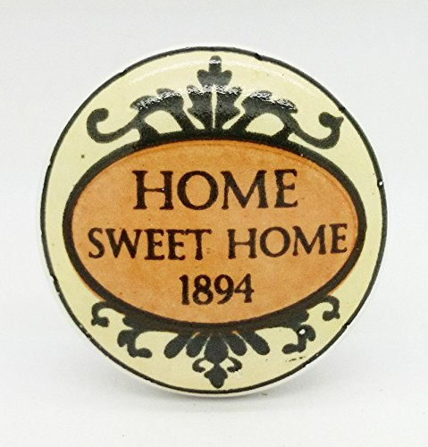 Home Sweet Home 1894 Ceramic Door Knob Vintage Shabby Chic Cupboard Drawer Pull Handle 4529 Home Sweet Home 1894 Ceramic Door Knob Vintage Shabby Chic Cupboard Drawer Pull Handle 4529 0