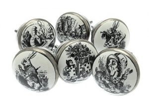 Mixed Set of 6 'Alice in Wonderland' Shabby Chic Vintage Style Ceramic Cupboard Knobs (MG-29) – 'Mango Tree' TM Registered Product Mixed Set of 6 Alice in Wonderland Shabby Chic Vintage Style Ceramic Cupboard Knobs MG 29 Mango Tree TM Registered Product 0 300x207