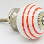 Orange Colour Striped on White Round Ceramic Door Knob Vintage Shabby Chic Cupboard Drawer Pull Handle 4505-OE Orange Colour Striped on White Round Ceramic Door Knob Vintage Shabby Chic Cupboard Drawer Pull Handle 4505 OE 0 150x150