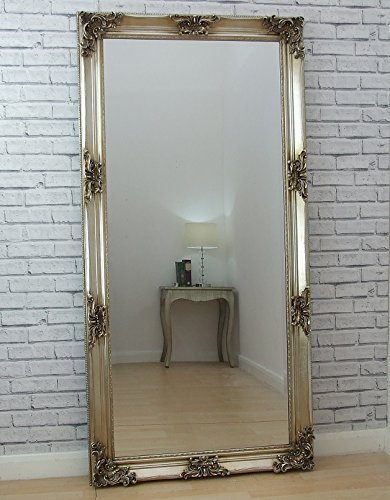 "Juliette Full Length Champagne shabby chic Leaner Floor wall Mirror 71"" x 35"" Juliette Full Length Champagne shabby chic Leaner Floor wall Mirror 71″ x 35″ Juliette Full Length Champagne shabby chic Leaner Floor wall Mirror 71 x 35 0"