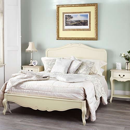 Juliette Shabby Chic Champagne 6ft Super King bed with wooden headboard, Stunning French Bed Juliette Shabby Chic Champagne 6ft Super King bed with wooden headboard, Stunning French Bed Juliette Shabby Chic Champagne 6ft Super King bed with wooden headboard Stunning French Bed 0