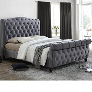Happy Beds Colorado Classic Scroll Sleigh Bed Grey Fabric Furniture Mattresses Happy Beds Colorado Classic Scroll Sleigh Bed Grey Fabric Furniture Mattresses 0 300x300
