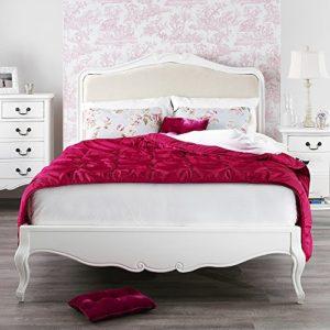 Shabby Chic Antique White Upholstered 6FT Super King Bed, Stunning French Bed Shabby Chic Antique White Upholstered 6FT Super King Bed Stunning French Bed 0 300x300