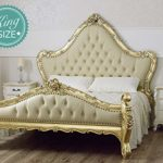 Simone Guarracino Double bed Bryanna French Baroque style King Size goldleaf faux leather champagne crystal Sw knobs Simone Guarracino Double bed Bryanna French Baroque style King Size goldleaf faux leather champagne crystal Sw knobs 0 150x150