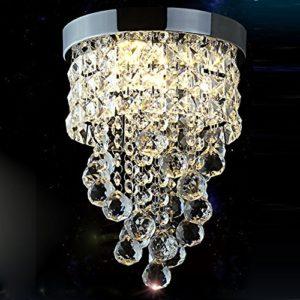 Surpars House Flush Mount Crystal Chandelier 3-Light Led Bulbs Included Chrome Silver Surpars House Flush Mount Crystal Chandelier 3 Light Led Bulbs Included Chrome Silver 0 300x300