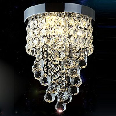 surpars house flush mount crystal chandelier 3-light led bulbs included chrome silver Surpars House Flush Mount Crystal Chandelier 3-Light Led Bulbs Included Chrome Silver Surpars House Flush Mount Crystal Chandelier 3 Light Led Bulbs Included Chrome Silver 0 400x400