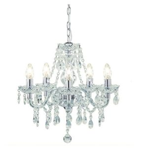 Tuscany 5 Light Ceiling Chandelier Acrylic Droplets Clear Tuscany 5 Light Ceiling Chandelier Acrylic Droplets Clear 0 300x300