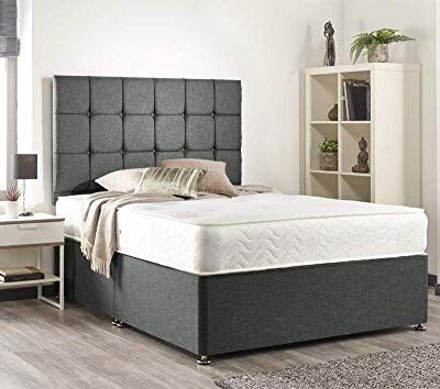 bed centre grey linen memory foam divan bed set with mattress, headboard, no drawers (king (150cm x 200cm)) Bed Centre Grey linen Memory Foam Divan Bed Set With Mattress, Headboard, No Drawers (King (150cm X 200cm)) Bed Centre Grey linen Memory Foam Divan Bed Set With Mattress Headboard No Drawers King 150cm X 200cm 0 400x354