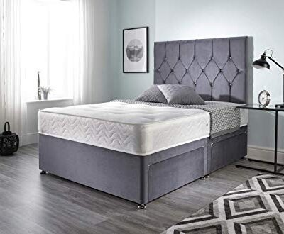 bed centre ziggy grey plush sprung memory foam divan bed set with mattress, 2 drawers (bottom base) and headboard (king (150cm x 200cm)) Bed Centre Ziggy Grey Plush Sprung Memory Foam Divan Bed Set With Mattress, 2 Drawers (Bottom Base) And Headboard (King (150cm X 200cm)) Bed Centre Ziggy Grey Plush Sprung Memory Foam Divan Bed Set With Mattress 2 Drawers Bottom Base And Headboard King 150cm X 200cm 0 400x330
