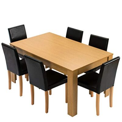 cherry tree furniture 7-piece dining room set 6-seater 150 x 90 cm dining table + 6 chairs Cherry Tree Furniture 7-Piece Dining Room Set 6-Seater 150 X 90 CM Dining Table + 6 Chairs Cherry Tree Furniture 7 Piece Dining Room Set 6 Seater 150 X 90 CM Dining Table 6 Chairs 0 400x400