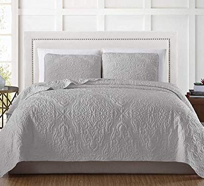 chezmoi collection frederick 3-piece cooling bamboo fiber quilt bedspread embroidered medallion damask woven quilted coverlet set (king, gray) Chezmoi Collection Frederick 3-Piece Cooling Bamboo Fiber Quilt Bedspread Embroidered Medallion Damask Woven Quilted Coverlet Set (King, Gray) Chezmoi Collection Frederick 3 Piece Cooling Bamboo Fiber Quilt Bedspread Embroidered Medallion Damask Woven Quilted Coverlet Set King Gray 0 400x365