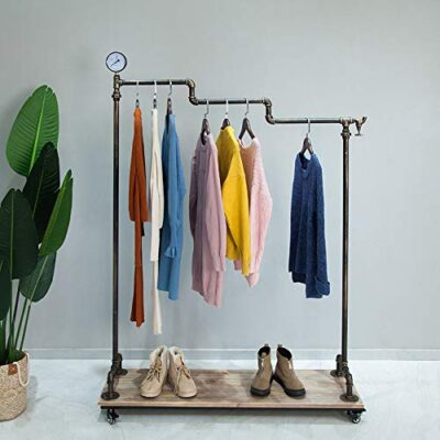 clothes rail rack on wheels rolling garment rack with real wood shelf, industrial vintage heavy duty clothing racks display with shoes and hats storage shelf for laundry room, retail store, home Clothes Rail Rack on Wheels Rolling Garment Rack with real wood shelf, Industrial Vintage Heavy Duty Clothing Racks Display with Shoes and Hats Storage Shelf for Laundry Room, Retail Store, Home Clothes Rail Rack on Wheels Rolling Garment Rack with real wood shelf Industrial Vintage Heavy Duty Clothing Racks Display with Shoes and Hats Storage Shelf for Laundry Room Retail Store Home 0 400x400
