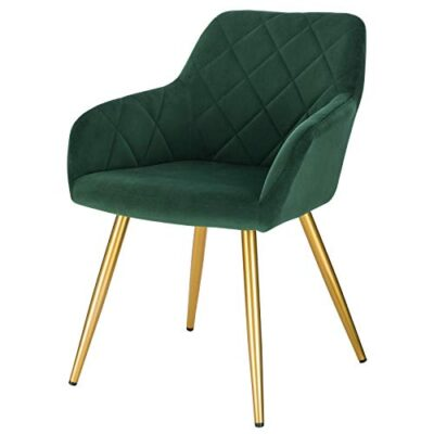 eugad 1x dining room chair kitchen side chair for bedroom living room dark green velvet dining chair with arms rest, back support & golden metal legs, 0627by-1 EUGAD 1x Dining Room Chair Kitchen Side Chair for Bedroom Living Room Dark Green Velvet Dining Chair with Arms Rest, Back Support & Golden Metal Legs, 0627BY-1 EUGAD 1x Dining Room Chair Kitchen Side Chair for Bedroom Living Room Dark Green Velvet Dining Chair with Arms Rest Back Support Golden Metal Legs 0627BY 1 0 400x400