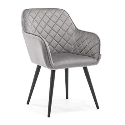 hnnhome® dalton upholstered kitchen dining chair with arms and back, strong metal leg, lounge living room armchair reception tub chair (grey, velvet) HNNHOME® Dalton Upholstered Kitchen Dining Chair with Arms and Back, Strong Metal Leg, Lounge Living Room Armchair Reception Tub Chair (Grey, Velvet) HNNHOME Dalton Upholstered Kitchen Dining Chair with Arms and Back Strong Metal Leg Lounge Living Room Armchair Reception Tub Chair Grey Velvet 0 400x400