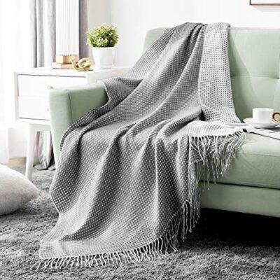 hansleep waffle knitted throw blanket for sofa and couch - grey & white, 130x150cm Hansleep Waffle Knitted Throw Blanket for Sofa and Couch – Grey & White, 130x150cm Hansleep Waffle Knitted Throw Blanket for Sofa and Couch Grey White 130x150cm 0 400x400