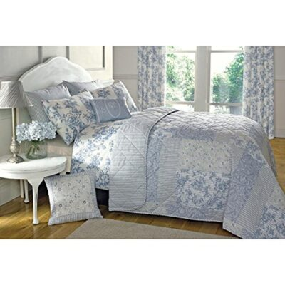 just contempo french toile quilted bedspread, blue Just Contempo French Toile Quilted Bedspread, Blue Just Contempo French Toile Quilted Bedspread Blue 0 400x400
