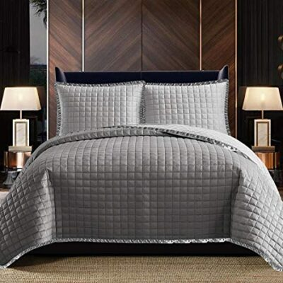 quilted bedspread throw grey 3 piece bedroom accessories, anti allergic embossed quilt coverlet comforter super king size bed set - osca grey Quilted Bedspread Throw Grey 3 Piece Bedroom Accessories, Anti Allergic Embossed Quilt Coverlet Comforter Super King Size Bed Set – Osca Grey Quilted Bedspread Throw Grey 3 Piece Bedroom Accessories Anti Allergic Embossed Quilt Coverlet Comforter Super King Size Bed Set Osca Grey 0 400x400