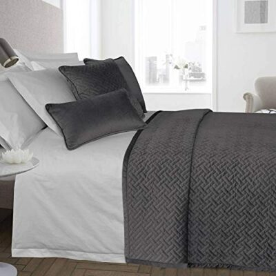 ravali luxury french velvet quilted herringbone bedspread throw over bedding quilt (charcoal) RAVALI Luxury French Velvet Quilted Herringbone Bedspread Throw Over Bedding Quilt (Charcoal) RAVALI Luxury French Velvet Quilted Herringbone Bedspread Throw Over Bedding Quilt Charcoal 0 400x400