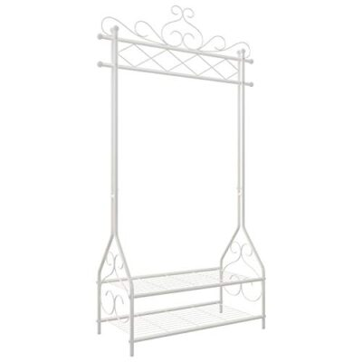 songmics vintage clothes stand and rack with garment rail and 2 metal shelves 92 x 41 x 173 cm (w x d x h) cream hsr07w SONGMICS Vintage Clothes Stand and Rack with Garment Rail and 2 metal shelves 92 x 41 x 173 cm (W x D x H) Cream HSR07W SONGMICS Vintage Clothes Stand and Rack with Garment Rail and 2 metal shelves 92 x 41 x 173 cm W x D x H Cream HSR07W 0 400x400