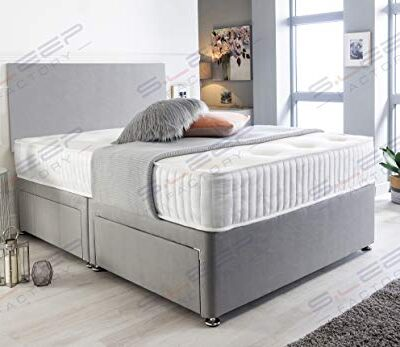 sleep factory's grey suede memory foam divan bed set with mattress and headboard 3ft 4ft 4ft6 5ft 6ft single double small uk king super king (5.0ft (king size), 4 drawers) Sleep Factory's Grey Suede Memory Foam Divan Bed Set With Mattress And Headboard 3ft 4ft 4ft6 5ft 6ft Single Double Small UK King Super King (5.0FT (King Size), 4 Drawers) Sleep Factorys Grey Suede Memory Foam Divan Bed Set With Mattress And Headboard 3ft 4ft 4ft6 5ft 6ft Single Double Small UK King Super King 50FT King Size 4 Drawers 0 400x347