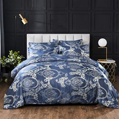 styho luxury jacquard bed set with duvet cover and pillow shams 100% polyester floral satin bedding set Styho Luxury Jacquard Bed Set with Duvet Cover and Pillow Shams 100% Polyester Floral Satin Bedding Set Styho Luxury Jacquard Bed Set with Duvet Cover and Pillow Shams 100 Polyester Floral Satin Bedding Set 0 400x400