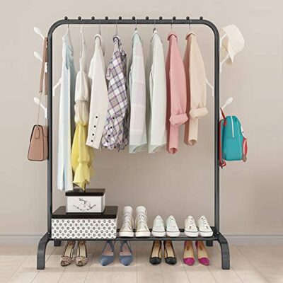 tanice clothes rail heavy duty metal garment rack 1-tier clothing hanger with top rod and lower storage shelf clothes rack for home office indoor (black) Tanice Clothes Rail Heavy Duty Metal Garment Rack 1-Tier Clothing Hanger with Top Rod and Lower Storage Shelf Clothes Rack for Home Office Indoor (Black) Tanice Clothes Rail Heavy Duty Metal Garment Rack 1 Tier Clothing Hanger with Top Rod and Lower Storage Shelf Clothes Rack for Home Office Indoor Black 0 400x400